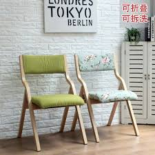 solid wood folding chair dining chair fabric washable simple fashion creative computer training conference chair ikea