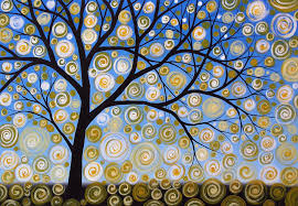 tree painting abstract tree nature original painting starry starry by amy giacomelli by amy giacomelli