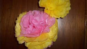 Large Tissue Paper Flower How To Make Large Tissue Paper Flowers Our Pastimes