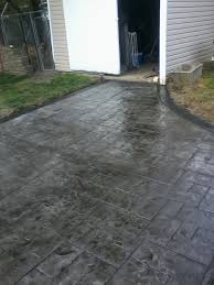 stained concrete patio gray. Gray Ashlar Slate Stamped Concrete Patio With Stained Black Border In Wyoming County Ny R