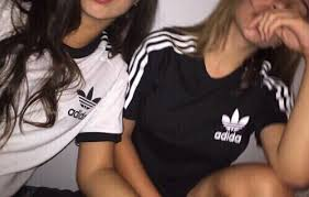 adidas girls. together, adidas, girls, forever, white adidas girls