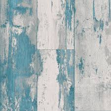 Behang Dutch Wallcoverings Royal Dutch 8 Hout Blauw Turquoise 7363 5