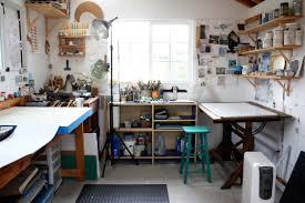 Home Art Studio Lisa Kairos Encaustic Painter Studio Artist Studio Pinterest