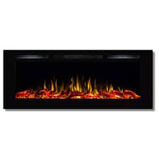 best ventless recessed electric fireplace regal flame fusion 50 built in ventless recessed wall mounted electric fireplace