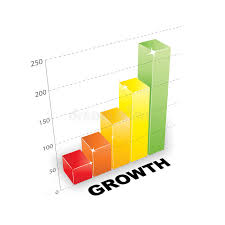 3d Growth Chart Stock Vector Illustration Of Goal Graph
