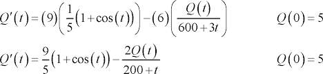 this is a linear diffeial equation and it isn t too difficult to solve hopefully we will show most of the details but leave the description of the