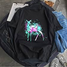 MDLJY T shirt <b>Summer Men'S</b> Neon Deer <b>Personality</b> Creative ...