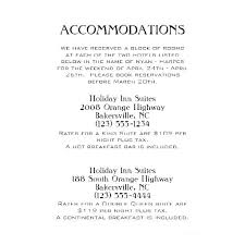 Hotel Accommodations Cards Accommodation Card Wording Weekend Wedding Google Search Hotel