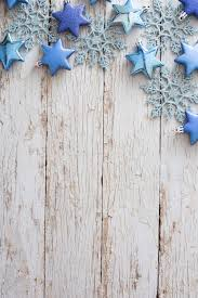 Photo of Border of blue ornaments on rustic white wood | Free ...