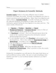 best scientific method images worksheets  paper airplanes and scientific methods worksheet