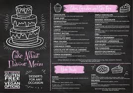 Flavour Menu Cake Affair Cakes Cupcakes Dessert Tables And More