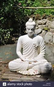 buddha statue in a lake at the andre heller botanical gardens gardone riviera lake garda
