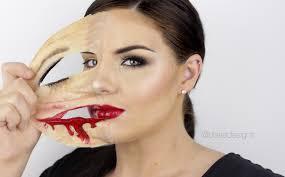 face makeup ling face latex skin show your real face makeup