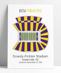 Ecu Dowdy Ficklen Stadium Seating Map Poster Parmar Media