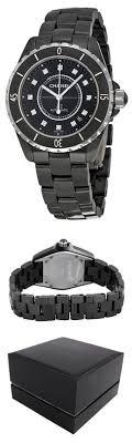 chanel j12 automatic black dial black matte high tech ceramic chanel j12 diamonds mens watch h1626 watch chanel wrist watches watches women