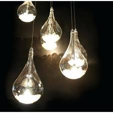 teardrop light fixture glass