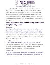 taber s truths top lists of bible verses arranged by subject remember jesus said to 39