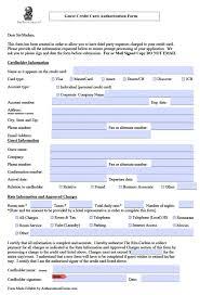 Credit Consent Form Free Ritz Carlton Credit Card Authorization Form Pdf