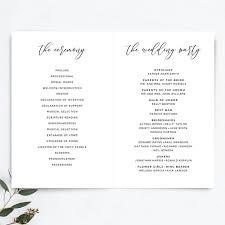 Wedding Booklet Template Wedding Program Booklet Template Printable Rustic Wedding