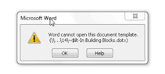 Word Template 2013 2469 In Word 2013 Error Message Word Cannot Open This Document