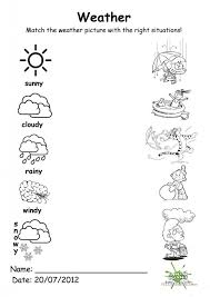 Kindergarten 116 FREE ESL Weather Worksheets For Kindergartners ...