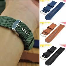 online get cheap sport watch band aliexpress com alibaba group nylon mesh watchbands fashion black brown 20mm 22mm 24mm womens mens sport watch band strap stainless