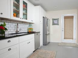 Kitchens With Gray Floors White Kitchen Cabinets Gray Floor Quicuacom