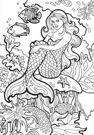 Small Picture Coloring Pages Draw Mermaids Download Color It nebulosabarcom