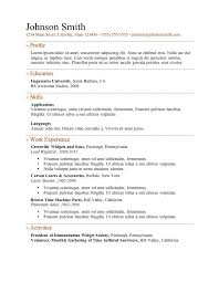 resume formats for free free template for resume fca291ab6ed1 thegimp