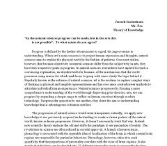 theory of knowledge essay examples co theory
