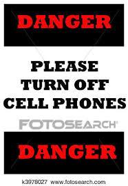 Please Turn Off Cell Phones Stock Illustration K3978027