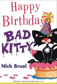 this humorous and funky bad kitty ilration has an interesting characteristic making it appeal to kids and s