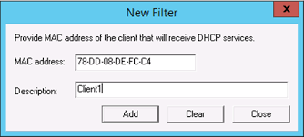 How to Enable and Configure DHCP MAC Address Filtering - TechNet ...