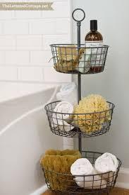wicker storage bathroom caddie basket