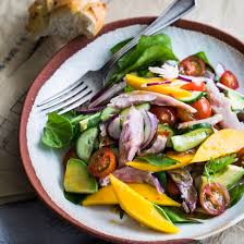 fresh garden salad with chicken. Fine Fresh Mango And Avocado Smoked Chicken Salad Inside Fresh Garden With H
