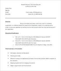 Sample Resume For Call Center Call Center Sample Resume Call Center Delectable Call Center Skills Resume