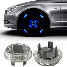 Car Light Decoration Car Solar Energy Flash Wheel Tire Rim Light Lamp 4 Modes 12 Led