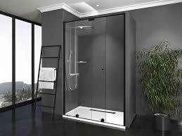 shower screen 1 sliding door 1 fixed panel upper rail azur