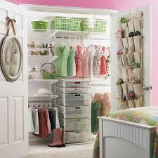 White elfa Girl's Reach-In Closet