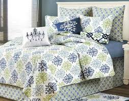 shabby chic blue quilt bedding by c f