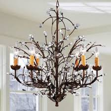copper grove antique bronze 6 light crystal and iron chandelier