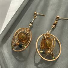 2019 Hand Made Geometric Circle Earring Woman <b>Vintage</b> Glass ...