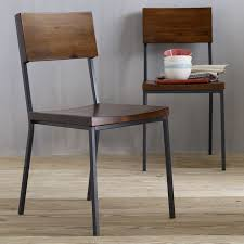 rustic dining chair chairs woods and wood furniture with regard to metal design 3