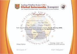 Sertifikat Pelatihan Sertifikat Komputer Online Tanpa Kursus Kursus Komputer