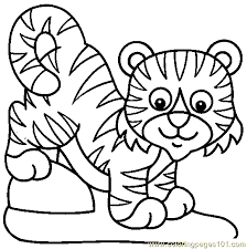 Small Picture Lion Tiger Coloring Page 07 Coloring Page Free Tiger Coloring