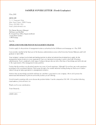 Example Of Application Letter For Fresh Graduatesess Administration