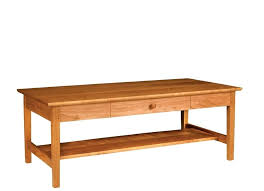 dining table character rustic cherry shaker style with plank construction breadboards ends and self coffee shak