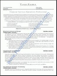 Resume:Resume Sample Financial Services ...