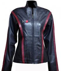 n7 mass effect 3 women leather jacket