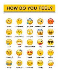 Feeling Identification Chart Emoji Feelings Chart Feelings Chart Emoji Chart Emoji